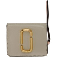 Marc Jacobs Beige Mini Snapshot Compact Wallet