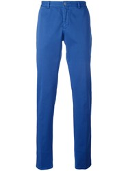 Etro Plain Pants Blue