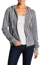 Alternative Apparel Fleece Zip Up Hoodie Gray