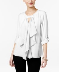 Thalia Sodi Ruffle Front Blouse Only At Macy's Washed White