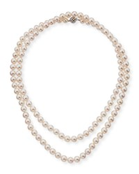 Belpearl 18K Single Strand Akoya Pearl Necklace 7.5Mm