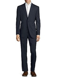 Jack Victor Solid Wool Suit Blue