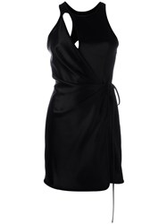 Alexander Wang Swim Wrap Mini Dress Black