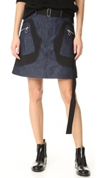 Tim Coppens Patch Skirt Blue Denim