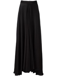 Lanvin Flared Maxi Skirt Black