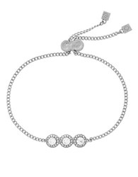 Cole Haan Cubic Zirconia Rhodium Plated Brass Bracelet Silver