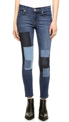 Baldwin Denim The Rivington Skinny Crop Jeans Colorado Patchwork