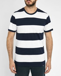 Roscoe White And Navy Terje Striped T Shirt Multicolour