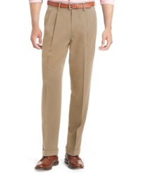 Izod Big And Tall Pleated Traveler Dress Pants Dark Cedarwood