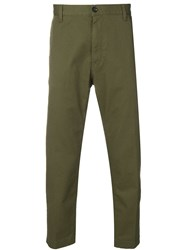 Covert Tailored Cropped Trousers Green