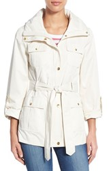 Women's Ellen Tracy Techno Short Trench Coat Cloud