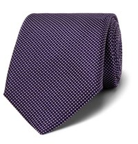 Hugo Boss 7.5Cm Silk Jacquard Tie Purple