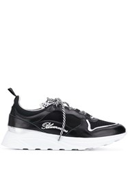 Blumarine Lace Up Logo Sneakers Black