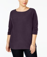 Inc International Concepts Plus Size Tunic Sweater Only At Macy's Blackberry Jam