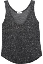 Lna Marled Stretch Jersey Tank Charcoal