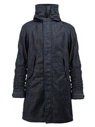 G Star Raw Research Funnel Neck Coat Blue