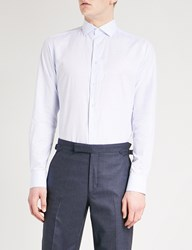 Smyth And Gibson Tailored Fit Cotton Linen Blend Shirt Sky