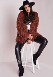 Missguided Plus Size Fine Hair Cardigan Rust Brown
