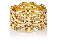 Sara Weinstock Women's French Lace Midi Ring Gold