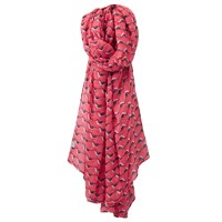 Joules Wensley Oyster Catcher Print Scarf Coral Multi