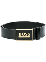 Hugo Boss Engraved Logo Belt Black