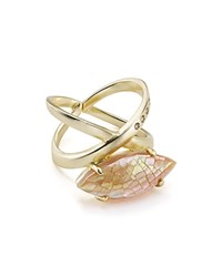 Kendra Scott Rosemary Cocktail Ring Brown Gold