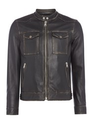 Replay Men's Biker Jacket With Pockets Black