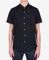 Volcom Men's Bayne Abstract Print Shirt Black
