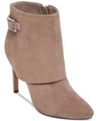 Jessica Simpson Dyers Cuffed Dress Booties Women's Shoes Slater Taupe Suede