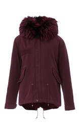 Mr And Mrs Italy Coyote Lined Mini Parka Red