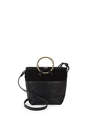 Sergio Rossi Quilted Crossbody Bucket Bag Black