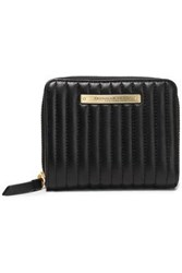 Donna Karan Woman Quilted Leather Wallet Black