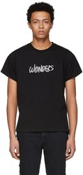 Wonders Ssense Exclusive Black Reflective Logo T Shirt