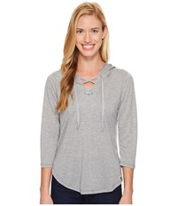 Woolrich Park Rapids Eco Rich Hoodie Stoneware Heather Women's Sweatshirt Gray