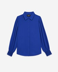 The Kooples Long Blue Shirt With Lace Details