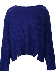 Zac Posen Oversized Jumper Blue