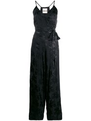 Aniye By Embellished V Neck Jumpsuit Black