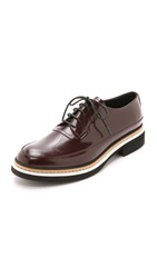 Mcq By Alexander Mcqueen Columbia Lace Up Oxfords Oxblood