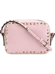 Valentino Garavani 'Rockstud' Cross Body Bag Pink And Purple