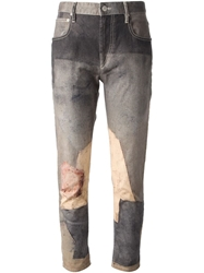 Isabel Marant Patchwork Print Jeans Grey