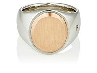 Tom Wood Women's Oval Face Signet Ring Silver
