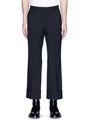 Dsquared Roll Cuff Flare Pants Black