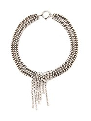 Isabel Marant Crystal Strand Double Chain Necklace Crystal