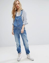 Lee Bib Relaxed Dungaree Authentic Blue