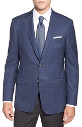 Men's Hickey Freeman 'Traveler' Classic Fit Check Wool Sport Coat