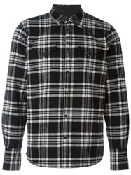 Dsquared2 Checked Flannel Shirt Black