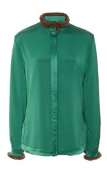 Alexis Mabille Long Sleeve Blouse Green