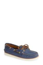 Sperry 'Authentic Original Gold Cup' Leather Boat Shoe Women Blue