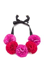 Kate Spade New York Fiesta Floral Statement Necklace Pink Multi