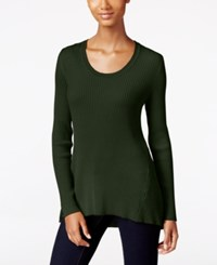 Styleandco. Style Co. Petite Scoop Neck Sweater Only At Macy's Dark Ivy